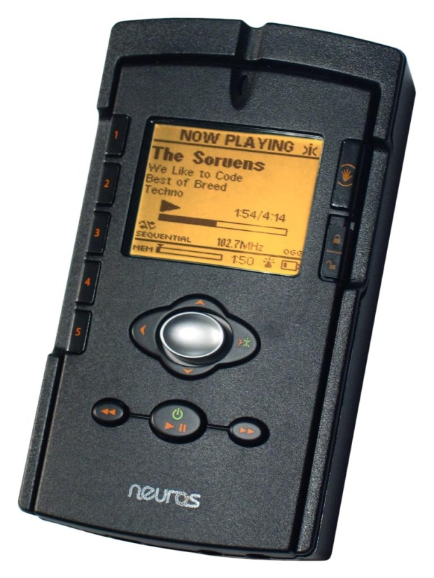 My first MP3 Player. From Neuros, it had a built in FM Transmitter.